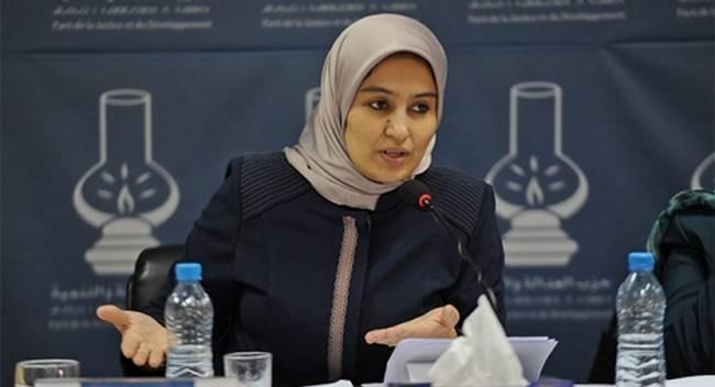 بثينة قروري نائبة برلمانية عن حزب العدالة والتنمية