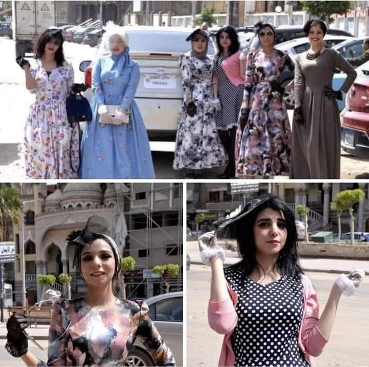 من الصور التي انتشرت عبر مواقع التواصل الاجتماعي لمبادرة ارتداء الفستان في الدقهلي