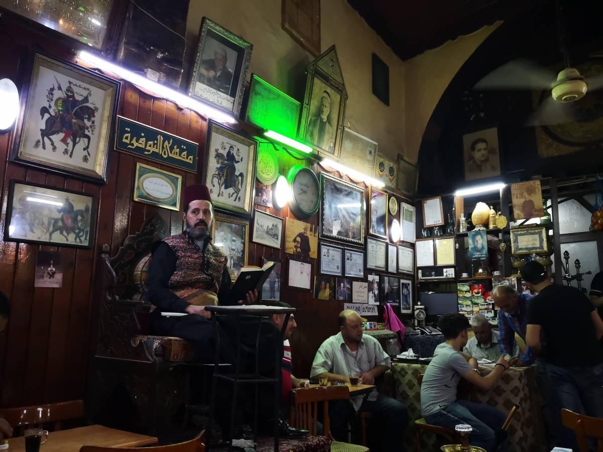 حكواتي مقهى النوفرة في دمشق