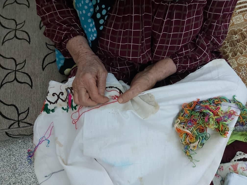 تطريز القنويج اليدوي الكردي